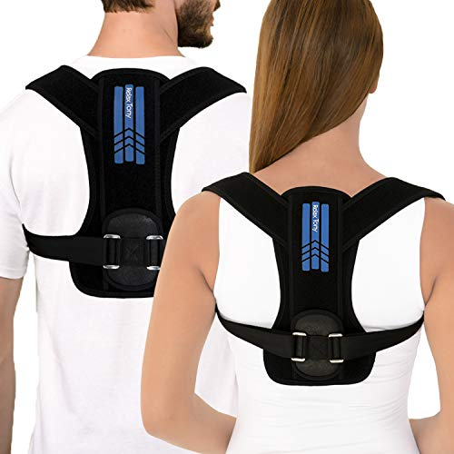 Unisex Posture Corrector for Men & Women   Adjustable Back Brace Posture Corrector   Under Clothes Upper Back & Spine Support   Back Straightener Posture Corrector