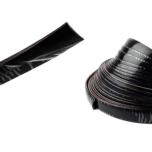 25Feet Black Moulding Trim for Car Scratchproof, 20mm Wide Stick-on Protect Sticker Dress up Auto Truck Body Side Exterior Edge - Self Adhesive Trim 3/4' Width