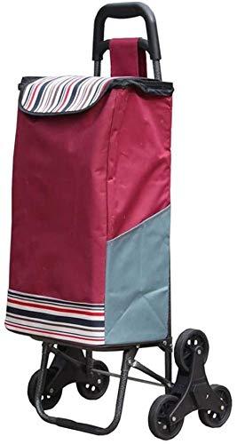 Durable Conveniente Peso Ligero Gran Capacidad Carro De Compra Fácil De Almacenar Extraíble Trolley 19.7 * 15.7 * 36.2 Pulgadas (color: Vino Tinto Tamaño: Tres Rondas) -tres Rondas-vino Tinto