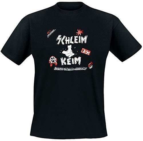 Schleimkeim – Schwarz, Rot, Gold – Nie Gewollt T-Shirt, schwarz, Grösse XL