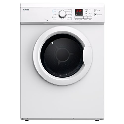 Amica ADV7CLCW Tumble Dryer Vented White Freestanding 7 Kilogram C Energy Rating 69dB Noise Level Digital Display Delay Start