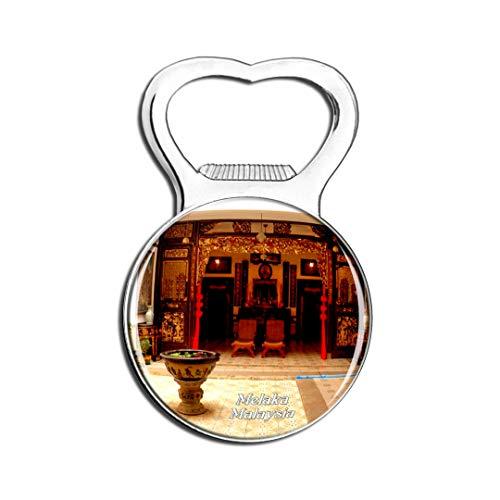 Weekino Malaysia Baba & Nyonya Erbe Museum Melaka Kühlschrankmagnet Bier Flaschenöffner Stadt Reise Souvenir Sammlung Starker Kühlschrankaufkleber