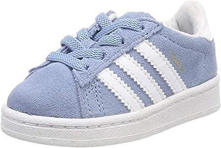 Adidas Campus El I, Zapatillas de Estar por casa Bebé Unisex, Azul (Azucen/Ftwbla/Ftwbla 000), 22 EU