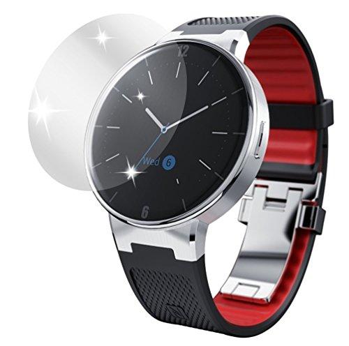 dipos I 6X Schutzfolie klar kompatibel mit Alcatel One Touch Watch Folie Bildschirmschutzfolie