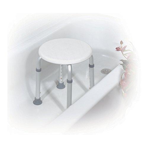Drive Medical RTL12004KD Adjustable Height Bath Stool, White
