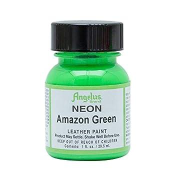 Angelus Neon Amazon Green Acrylic Leather Paint