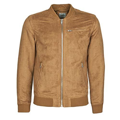 JACK & JONES JPRALESSIO Jacks/Blazers hommes Cognac Leren jas/kunstleren jas