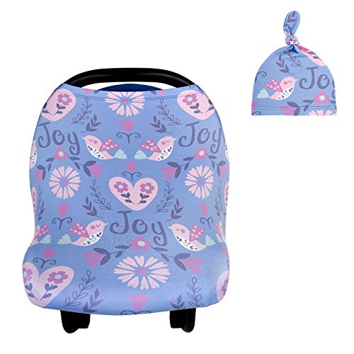 Nursing Cover Breastfeeding Cover, Newborn Hospital Hat Autumn Winter Baby Caps, Soft Breathable Infant Carseat Canopy, Infant Stretchy Cover for Baby Swing, Shopping Cart/High Chair/Stroller Covers
