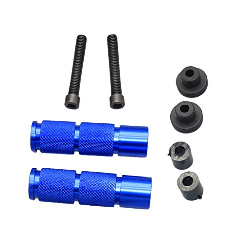 Universal CNC Motorcycle Scooter Dirt Bike ATV Footrests Foot Pegs - Azul