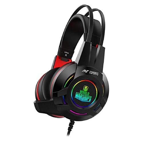 Ant Esports H550W RGB 7.1 USB Surround Sound Gaming Headset World of Warships Edition for PC Laptop - Black