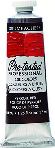 Grumbacher Pre-Tested Oil Paint, 37ml/1.25 oz., Pyrrole Red (P312G)