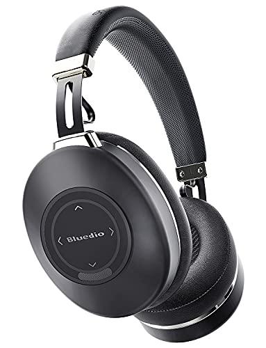 Cuffie Wireless Bluetooth 5.0 Cancellazione Attiva del Rumore, Bluedio H2 ANC Cuffie Over Ear con Mic Driver da 57 mm Stereo Hi-Fi, Controllo Touch Scorrevole, 40 ore di Lavoro per Telefono Android PC