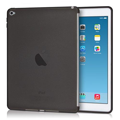 kwmobile Hülle kompatibel mit Apple iPad Air 2 - Tablet Cover - Tab Case Silikon Schutzhülle in Schwarz