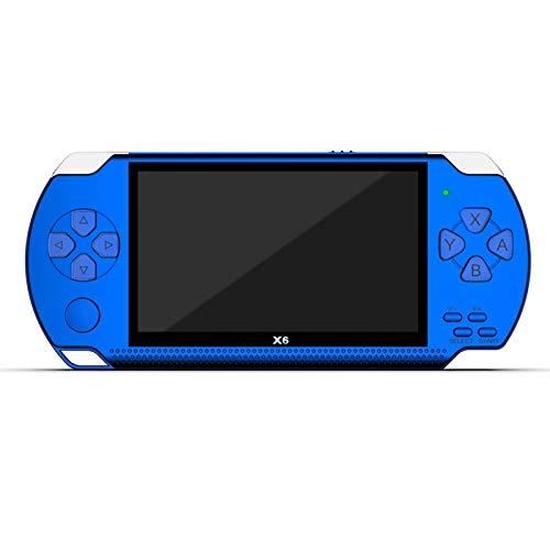 ASDFGT-778 Videospielkonsole Spiel Handheld Retro Game 4.3-Zoll-Screen-Mp4 Player-Spiel-Spieler Unterstützung Kamera Video E-Book (Color : Blue)
