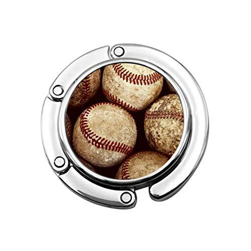 Colgador de Bolsa de suspensión de Bolso de béisbol Vintage Antiguo para Escritorio Diseños únicos Sección Plegable Bolsas de Almacenamiento Colgador para Mesa