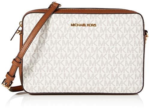 Michael Kors Women's Jet Set Item Lg Crossbody, Vanilla 2019, One Size