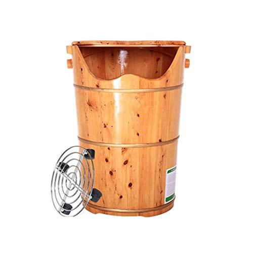 Read About XFENG Solid Wood Foot Basin, Wooden Foot Bath, Foot Spa Massage Cedar Pedicure Bucket, Ho...
