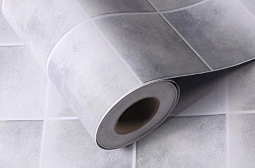 ivAZW Papeles de Pared Impermeables para Cocina, Vinilo de PVC extraíble, Papel Tapiz Autoadhesivo para Azulejos, baño, Inodoro, Adhesivo para Pared 4