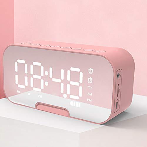 Klok Mirror Bluetooth Wireless Speaker, Mini draadloze luidsprekers met lossless geluid kwaliteit, geschikt voor gebruik binnen en buiten.
