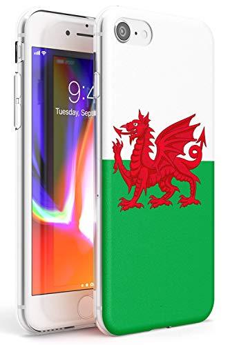 Case Warehouse Welsh Dragon Flag Slim Hülle kompatibel mit iPhone 7/8 / SE TPU Schutz Light Phone Tasche mit Reise Muster Wales Cymru Rugby