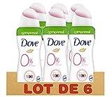 Dove - Desodorante comprimido 0% Invisible Care 100 ml, paquete de 6