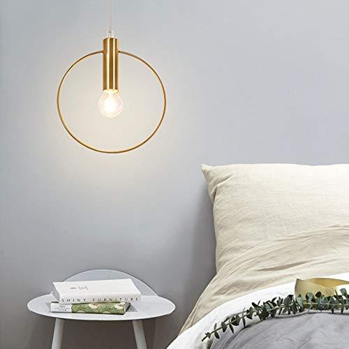 Hanglamp voor losse hangers, woonkamer, slaapkamer, nachtkastje, eetkamer, bar balkon, ronde LED van metaal plafondlamp D28 cm hanglamp