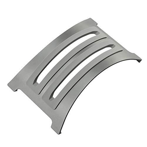 KKDWJ Ordenador portátil Soporte Vertical, de Aluminio Desmontable Titular portátil, con 2 Inserciones de Silicona Suave de reemplazo, diseño Antideslizante, Apto para Todos los portátiles,Gris
