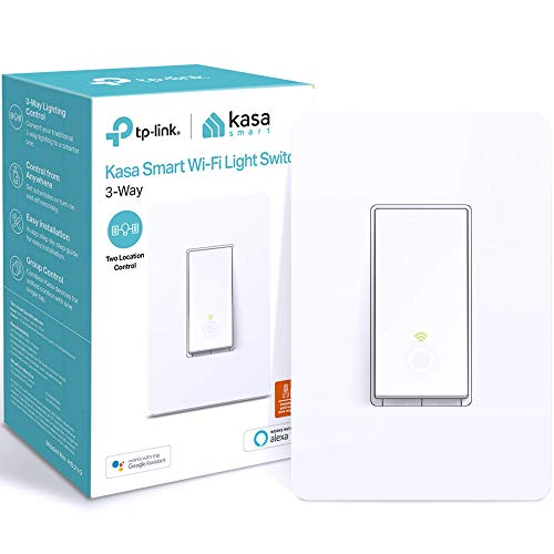 Kasa Smart 3 Way Switch HS210, Needs Neutral Wire, 2.4GHz Wi-Fi Light Switch works with Alexa and Google Home, UL Certified, No Hub Required
