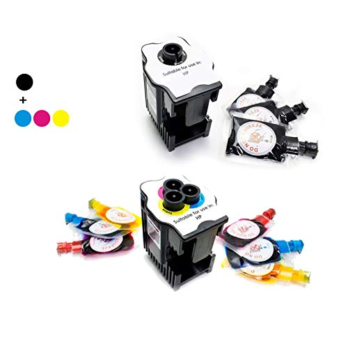 Kit de Recarga para Impresoras HP 300/301 / 301XL / 302XL / 304XL / 901 · Incluye Dos Estaciones de Recarga + 9 Recargas (3 Negro x 6 ml) (2 Cyan x 6 ml) (2 Magenta x 6 ml) (2 Amarillo x 6 ml)
