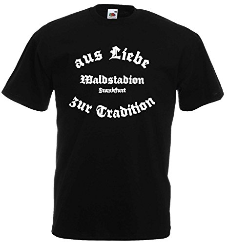 World-of-Shirt Herren T-Shirt Frankfurt Waldstadion Liebe Tradition|L