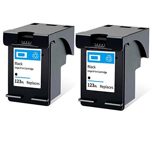 SXCD Cartucho de Tinta 123xl, reemplazo de Alto Rendimiento para HP DeskJet 1111 1112 2130 2131 3630 Envy C4780 Envy 4520 OfficeJet 3830 Impresora de Tinta Negro y Tri-co 2 Black