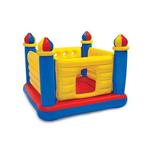 BJH Castillo Hinchable Inflable para Uso doméstico o Casas de Rebote inflables para niños al Aire Libre Castillo saltarín desliza la Bola