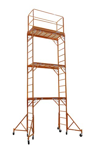 CBM Scaffold Multipurpose 18ft. Maxi Square Triple Baker-Style Scaffold Tower Package - 1,000-Lb. Capacity, Model# 3MFS