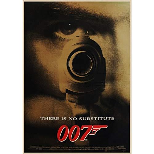 manyaxiaopu James Bond 007 Series Pierce Brosnan Film Classici Arredamento per La Casa Decorazione Carta Kraft Poster Pittura Decorativa A16 40X50Cm