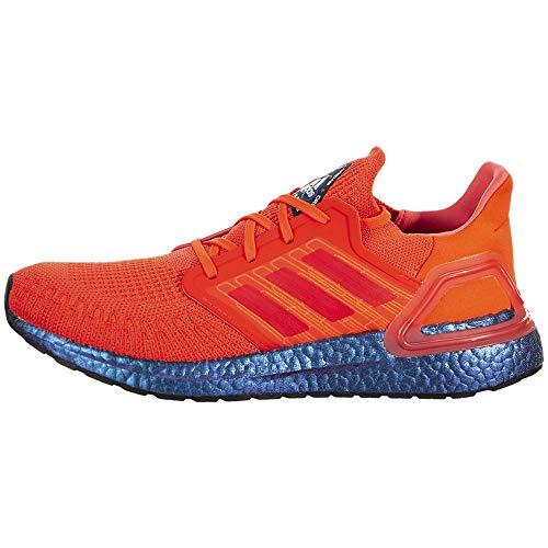 adidas Herren Ultraboost 20-FV8451 Turnschuh, Solar Rot/Solar Rot/Boost Blau/Violett Metallic, 46 EU