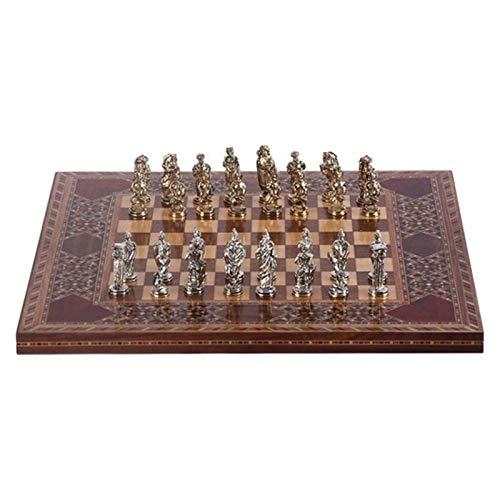 Elegante Ajedrez Hecho a Mano de Madera Maciza Tablero de ajedrez Otomano Otomano Bizantino Juego de ajedrez pequeños Brillantes...