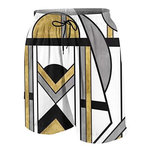 Meiya-Design Up and Away Art Deco Spaceman Print - Traje de baño para hombre, diseño de hombre