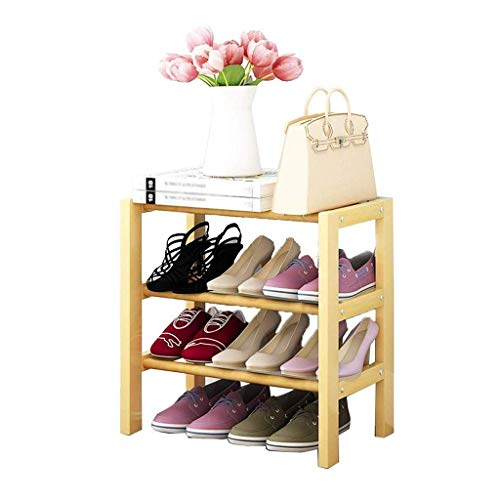 Diaod Simple Zapatero, Hogar Estante, Multi-Funcional a Prueba de Polvo de Almacenamiento en Rack de Madera Maciza Multicapa de Zapatos Simple Gabinete