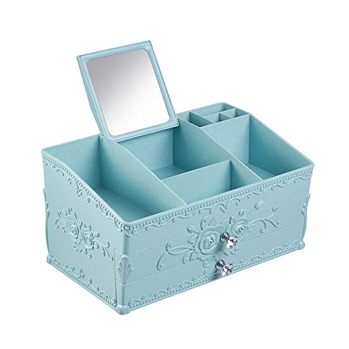 LXHkk Cosmetische opbergdoos, bureaulade Cosmetische opbergdoos met wastafel spiegel en lade, Scandinavische stijl, geschikt voor badkamer, slaapkamer, dressingtafel
