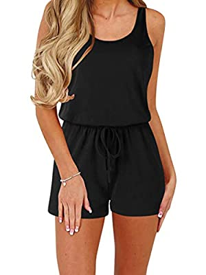 ANRABESS Women Rompers Sexy Scoop Neck Sleeveless Jumpsuits anDWX Rompers DWXheise-S
