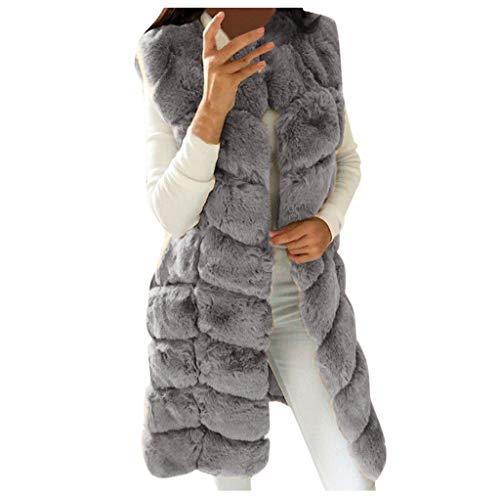 Womens Faux Bont Gilet Vest Dames Mouwloos Effen Kleur Taillejas Winter Warmer Wild Jas Bovenkleding