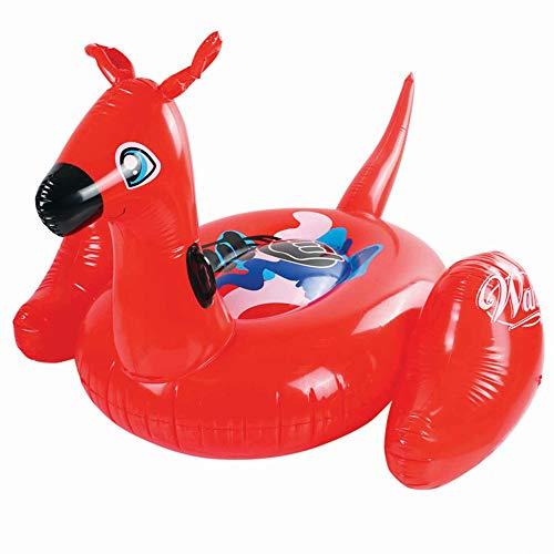 LJJY Asiento Koala Inflable Flotante Fila Piscina Agua Canguro Montaje para Vacaciones Agua Fiesta Piscina Playa Cama Inflable Adulto PVC Anillo de natación,Red
