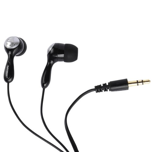 Vivanco URX 210 B Aircoustic Stereo Komfort Ohrhörer inkl. Silikon Ohrpolster (108dB, 3,5mm Klinkenstecker, 1,2m) schwarz