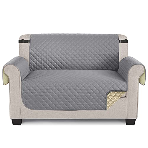 TAOCOCO Sofaschoner Schonbezug Sofa Überwürfe Sofa Schutz Abdeckung Rutschfes für Hunde Haustieren, Abnutzung und Riss schützen (Hellgrau, 2 Sitzer)