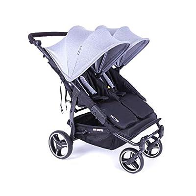 Cochecito doble Baby Monsters Easy Twin 3.S Light | PAsse en cualquier lugar | Incluye funda de lluvia | Práctico y manejable gris gris