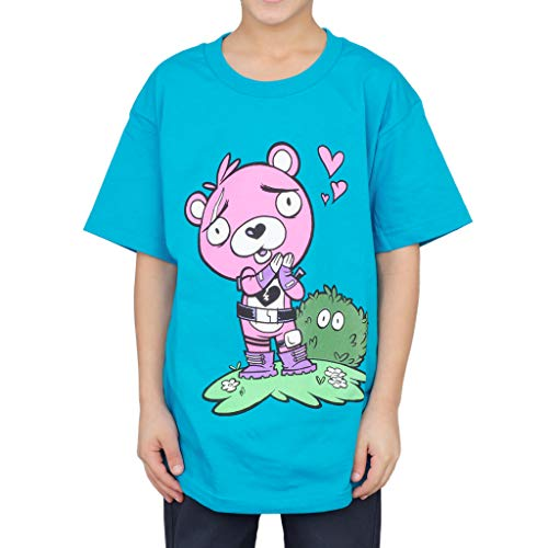Officially Licensed Epic Games Fortnite Cuddle Team Leader Big Boys T-Shirt (X-Large, 14) Turquoise