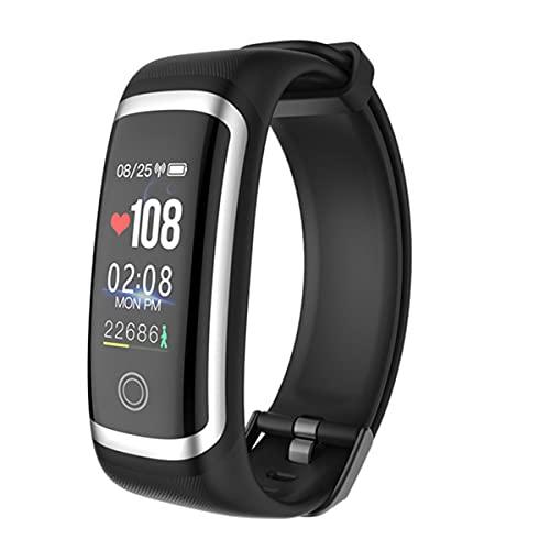 EXEDSCEND Smart Band, Fitness Actividades Tracker con Pantalla a Color de 0.96', 24/7 Monitor de Ritmo cardíaco Continuo 24/7 Seguimiento de sueño Reloj Inteligente con batería Larga Vida,Negro