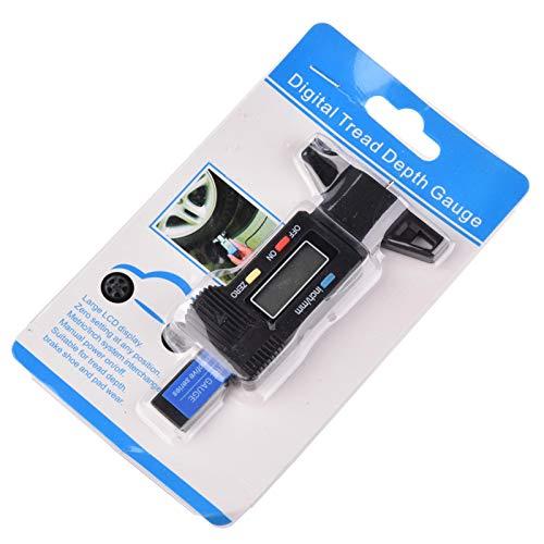 iBaste Profiltiefenmesser Reifenprofilmesser Profilmesser Digital Tiefenmesser Digital Tire Tread Gauge Reifenprofiltiefenanzeigen für PKW