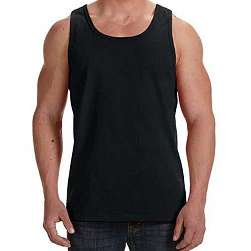 Neki Pack de 3 chalecos para hombre, 100% algodón, color negro, para verano, ropa interior, disponible en tallas extra grandes