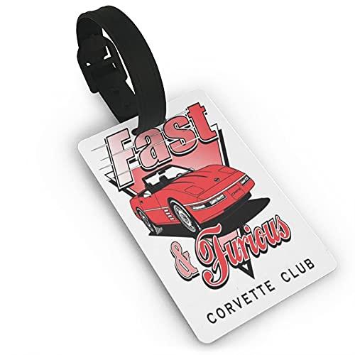 Cartellini per bagagli per club Fast Furious Unisex Valigia Etichette per Bagagli Tag Id con Copertura Posteriore Completa Privacy per Navi da Crociera Accessori da Viaggio Tag